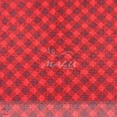 Tricoline Xadrez Diagonal Vermelho TRICO8630