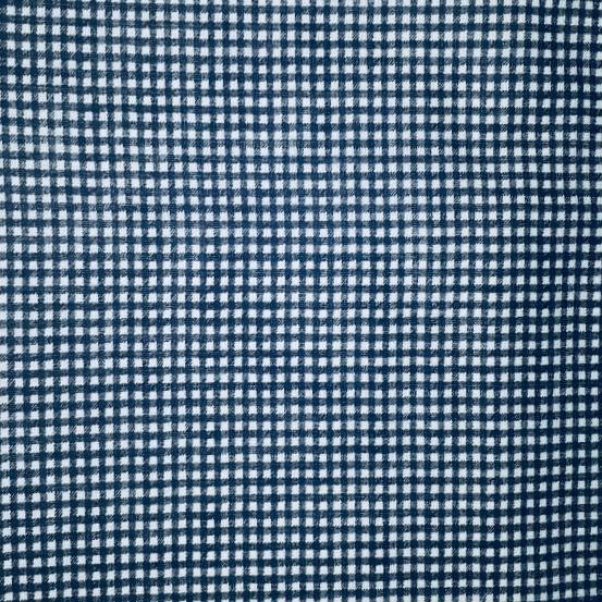 Tricoline Mista 50% Alg. Textoleen Xadrez Azul Marinho