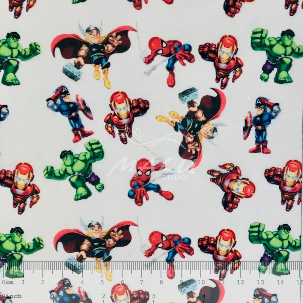 Tricoline Mista Heróis Marvel