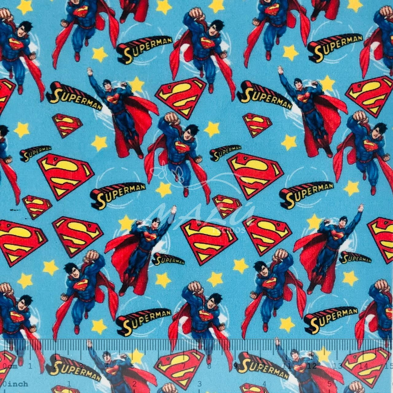 Tricoline Mista Super Homem