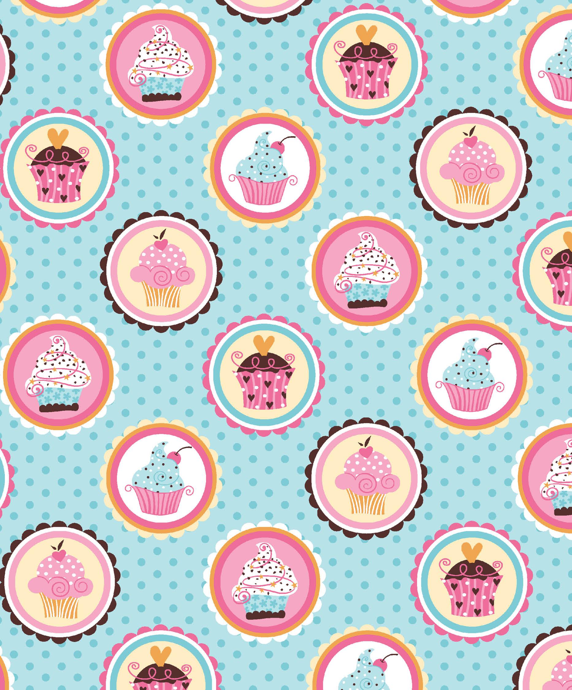 Tecido Cupcakes
