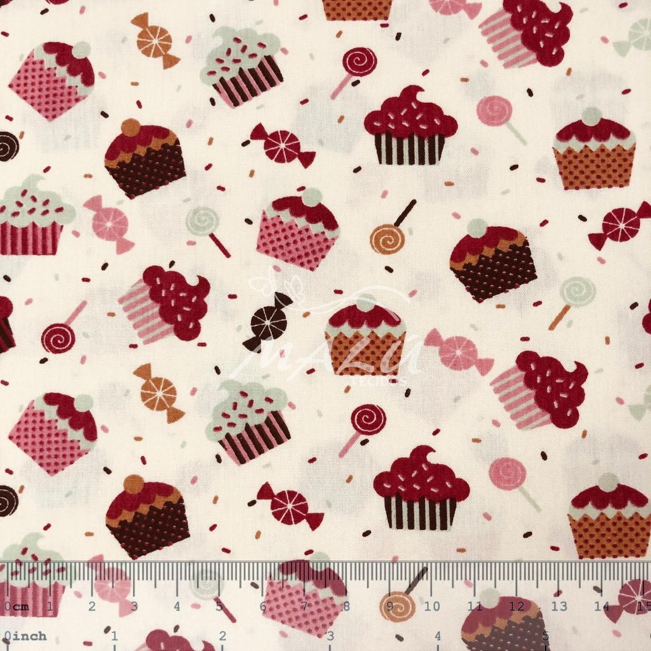 Tricoline Cupcake Pirulito e Balas