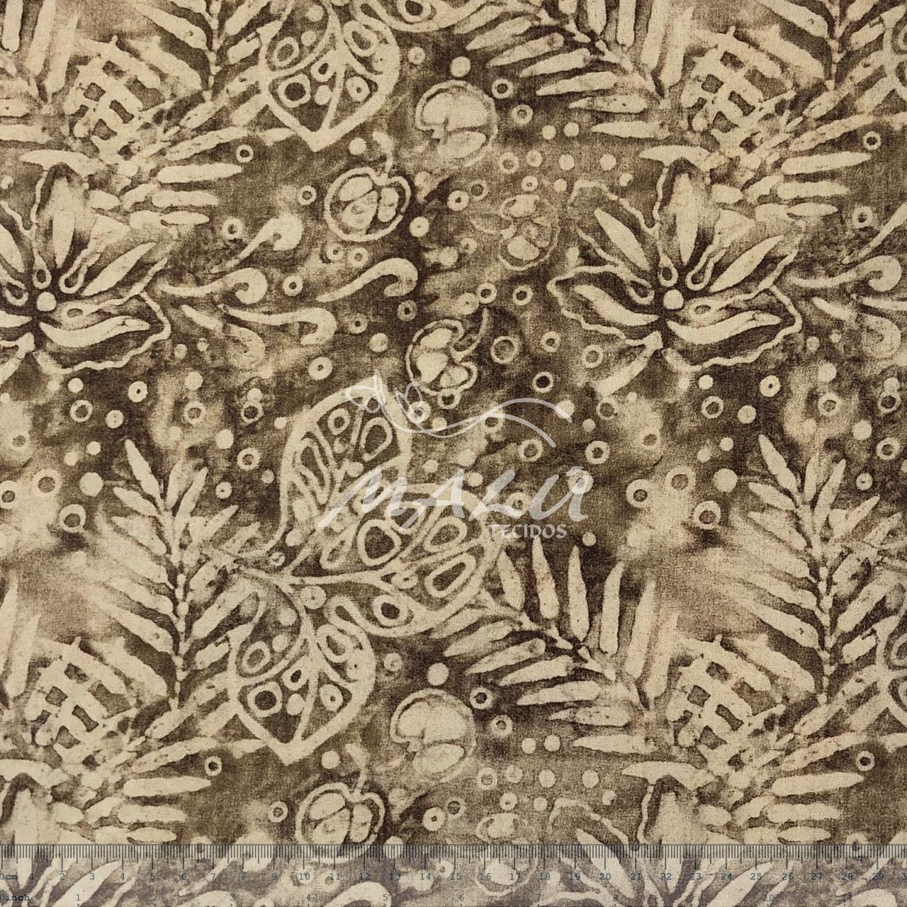 Tricoline Esponjado com Folhas