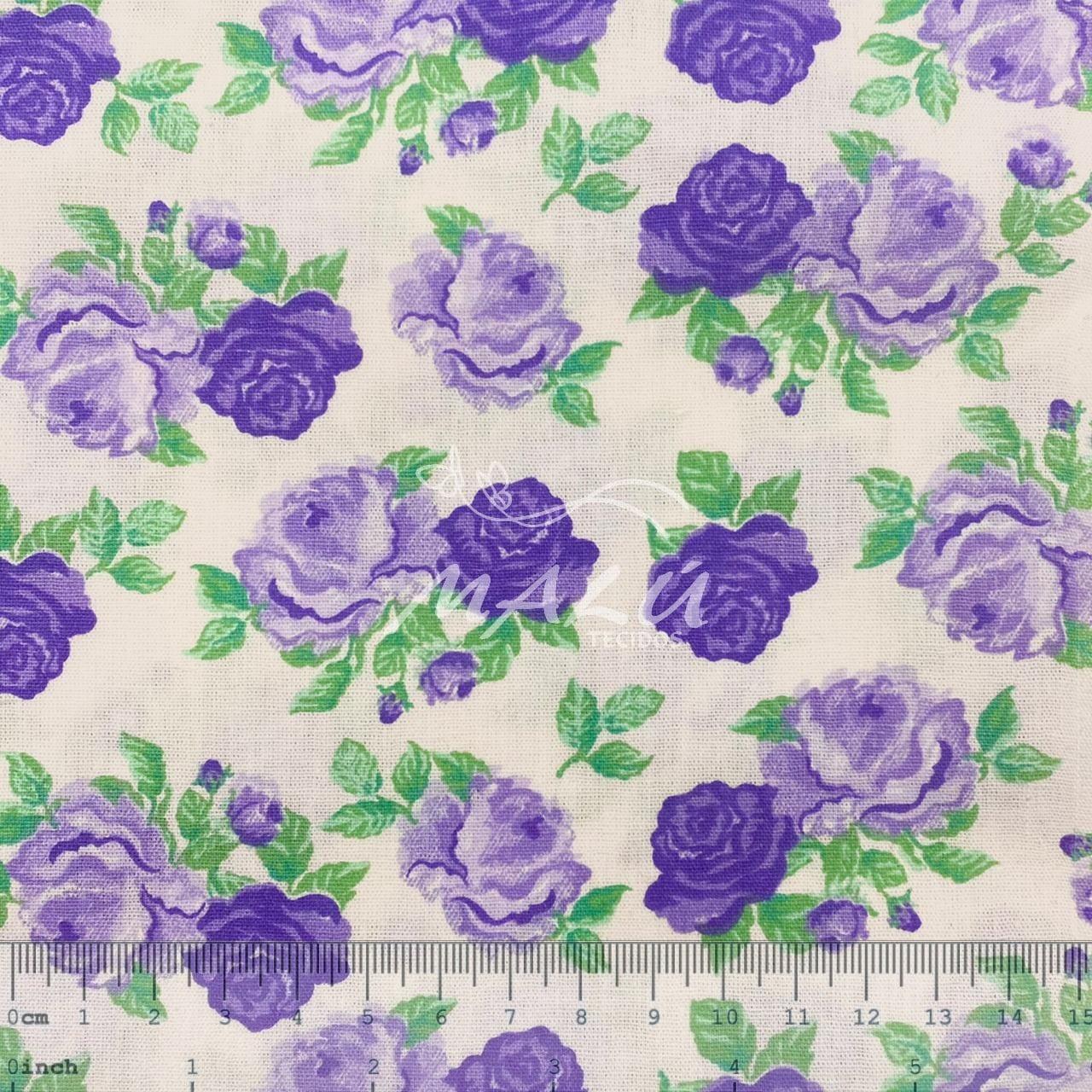 Tricoline Flor Violeta