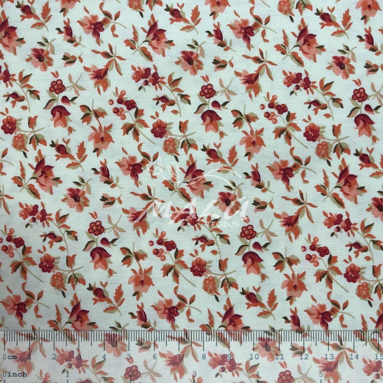 Tricoline Floral Laranja