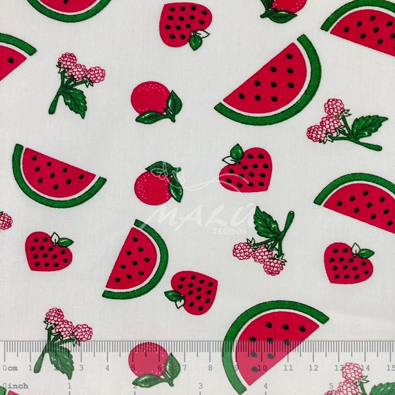 Tricoline Frutas Vermelhas