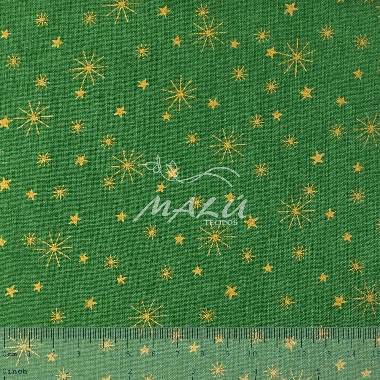 Tricoline Verde com Estrelas
