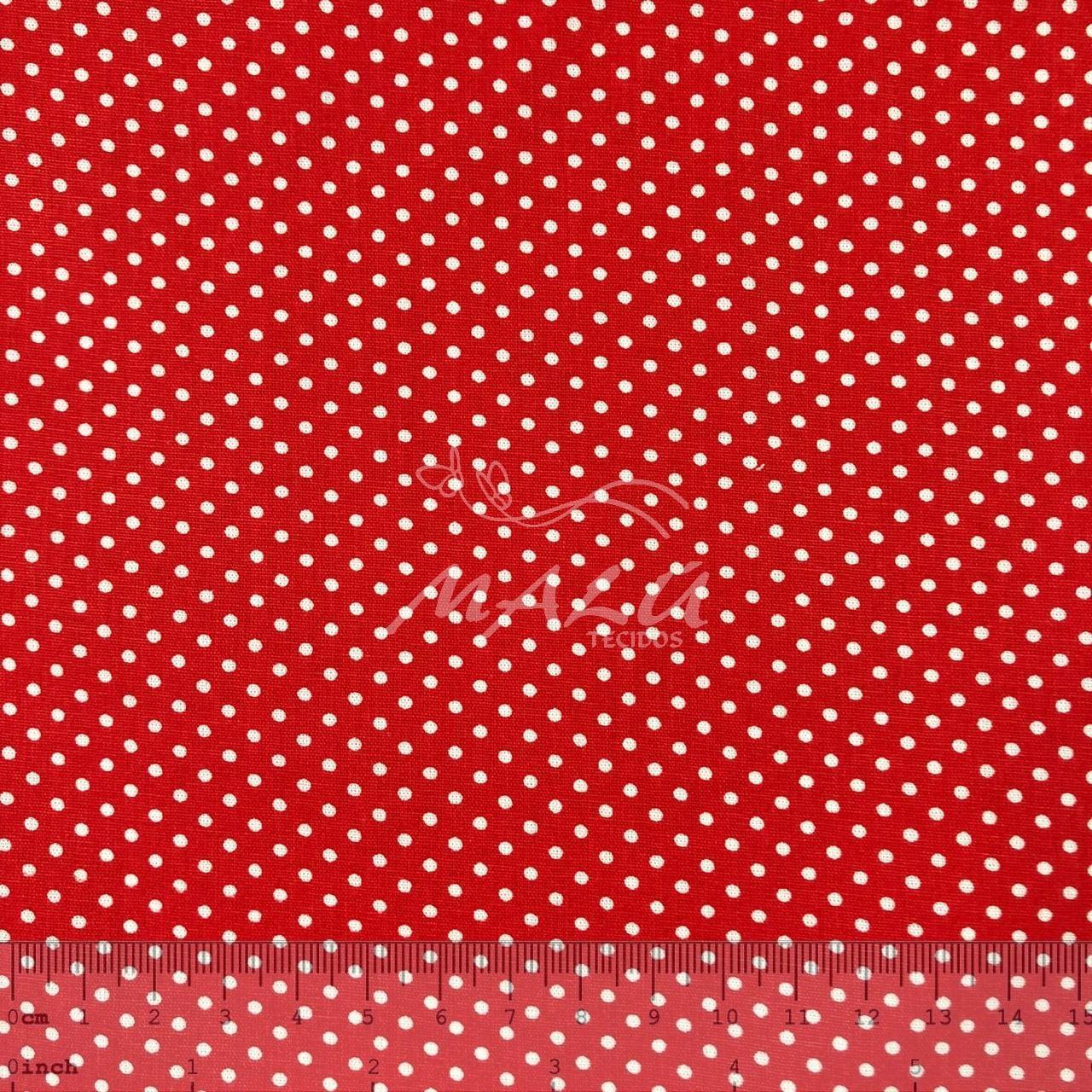 Tricoline Petit Poa Pequeno Vermelho