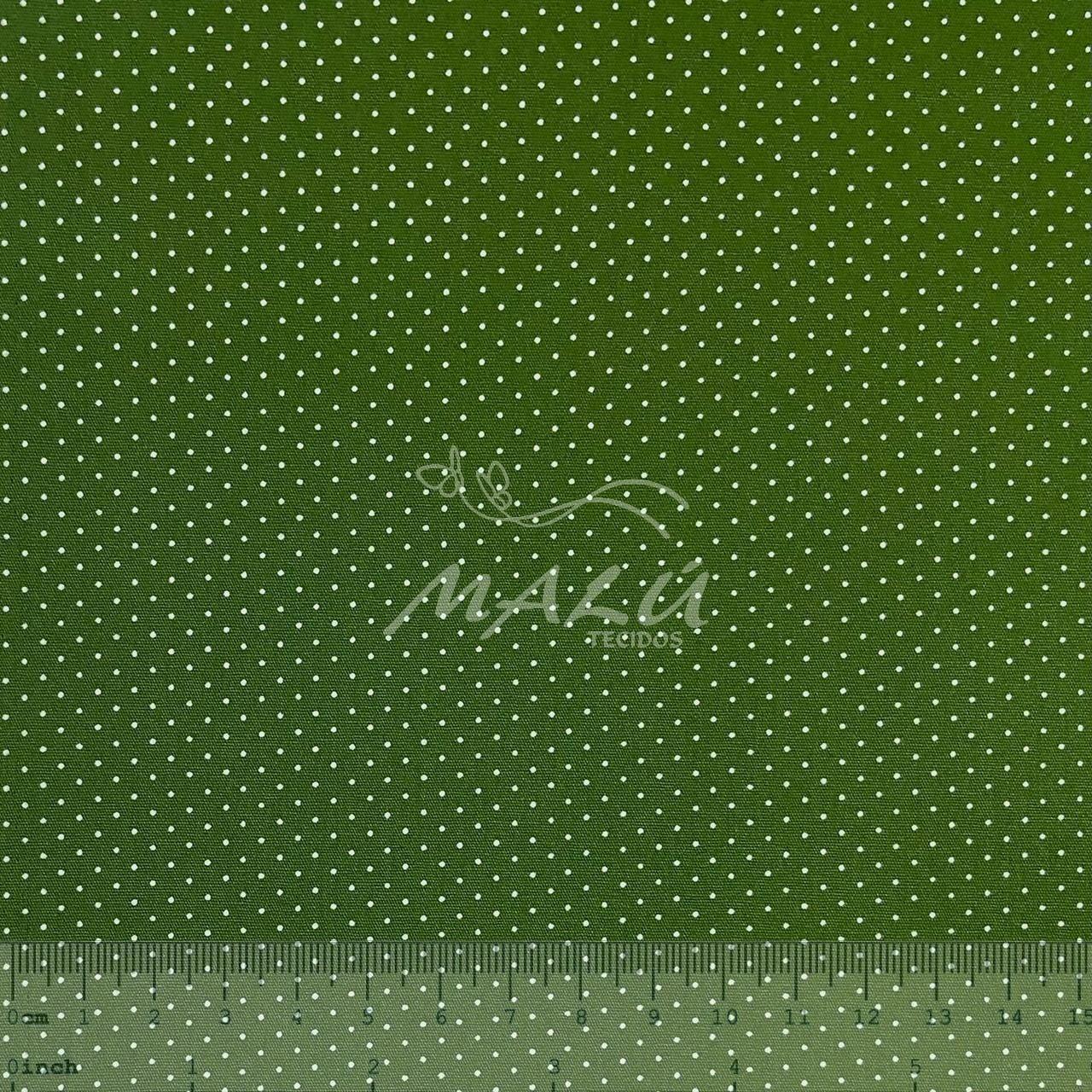 Tricoline Poazinho Verde Musgo